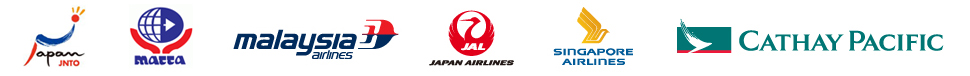 JNTO; MATTA; Malaysia Airlines MAS; Japan Airlines JAL; Singapore Airlines; Cathay Pacific