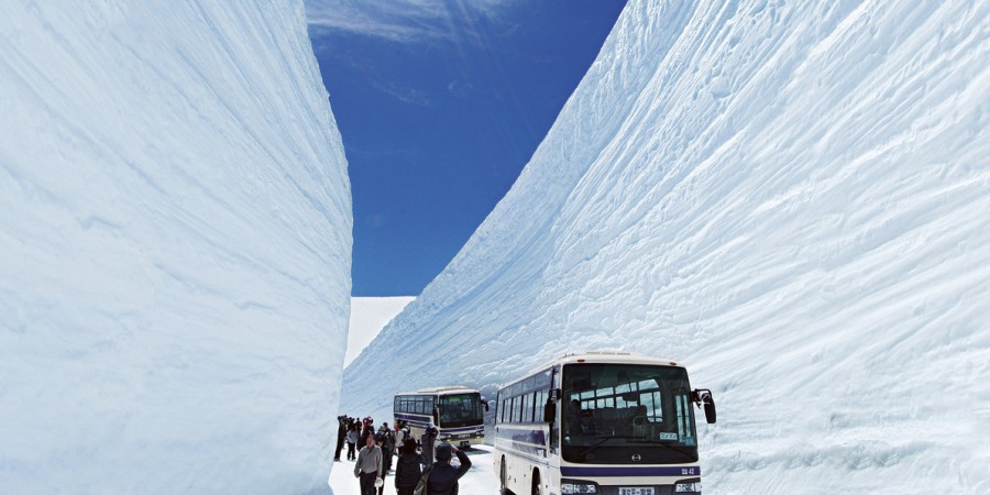 Alpine Route - Snow Wall